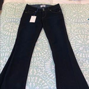 Dark wash, Paige bootcut jeans